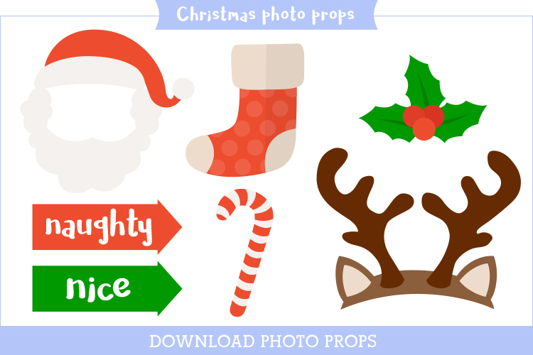 photo booth prop printables for christmas
