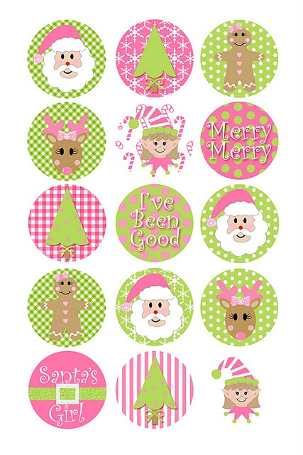 pink printables for christmas