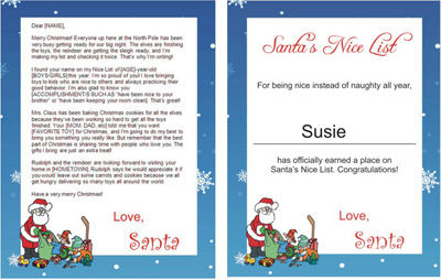 print a letter to santa for free