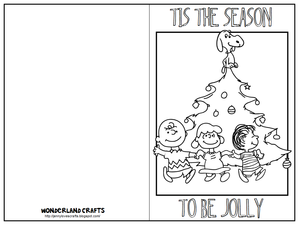 printable christmas cards for children to color