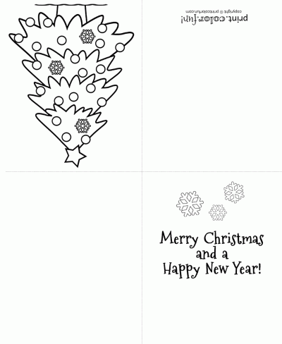 printable christmas cards for kids to color