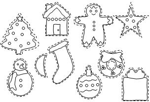 printable christmas decorations to colour