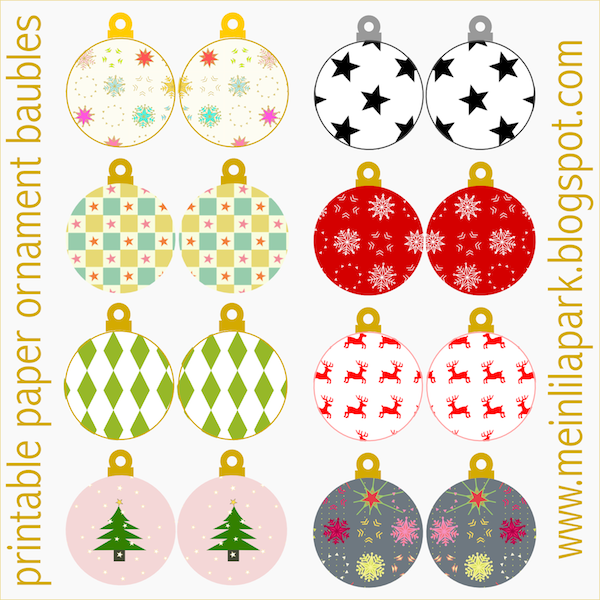 ... printable christmas tree decorations