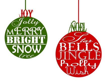 Juicy image with free printable christmas decorations