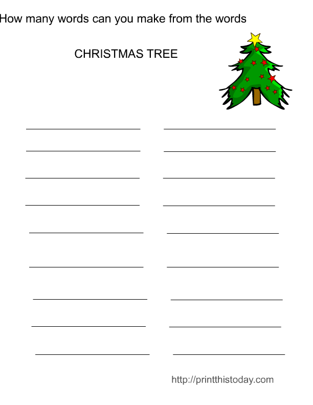 printable christmas word games for adults