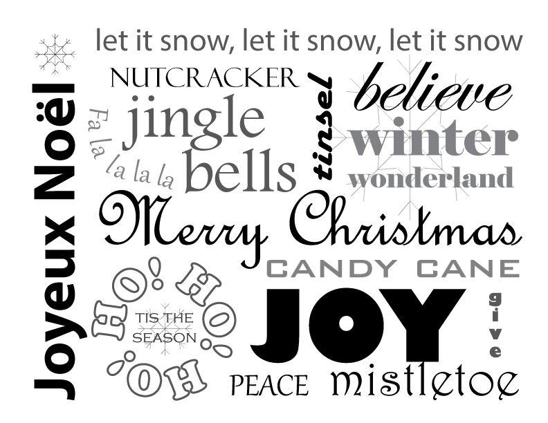 printable christmas words