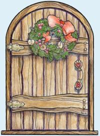 printable elf door