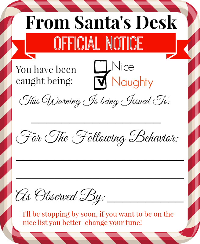 printable elf notes