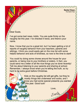 printable letters from santa claus