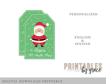 santa claus gift tags printable