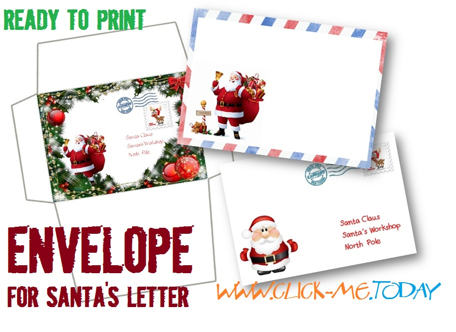 photograph about Free Printable Envelopes named Santa Envelopes Cost-free Printable Templates - Xmas Printables