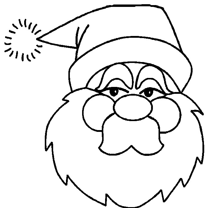 santa face template printable