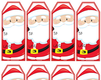 santa gift labels printable