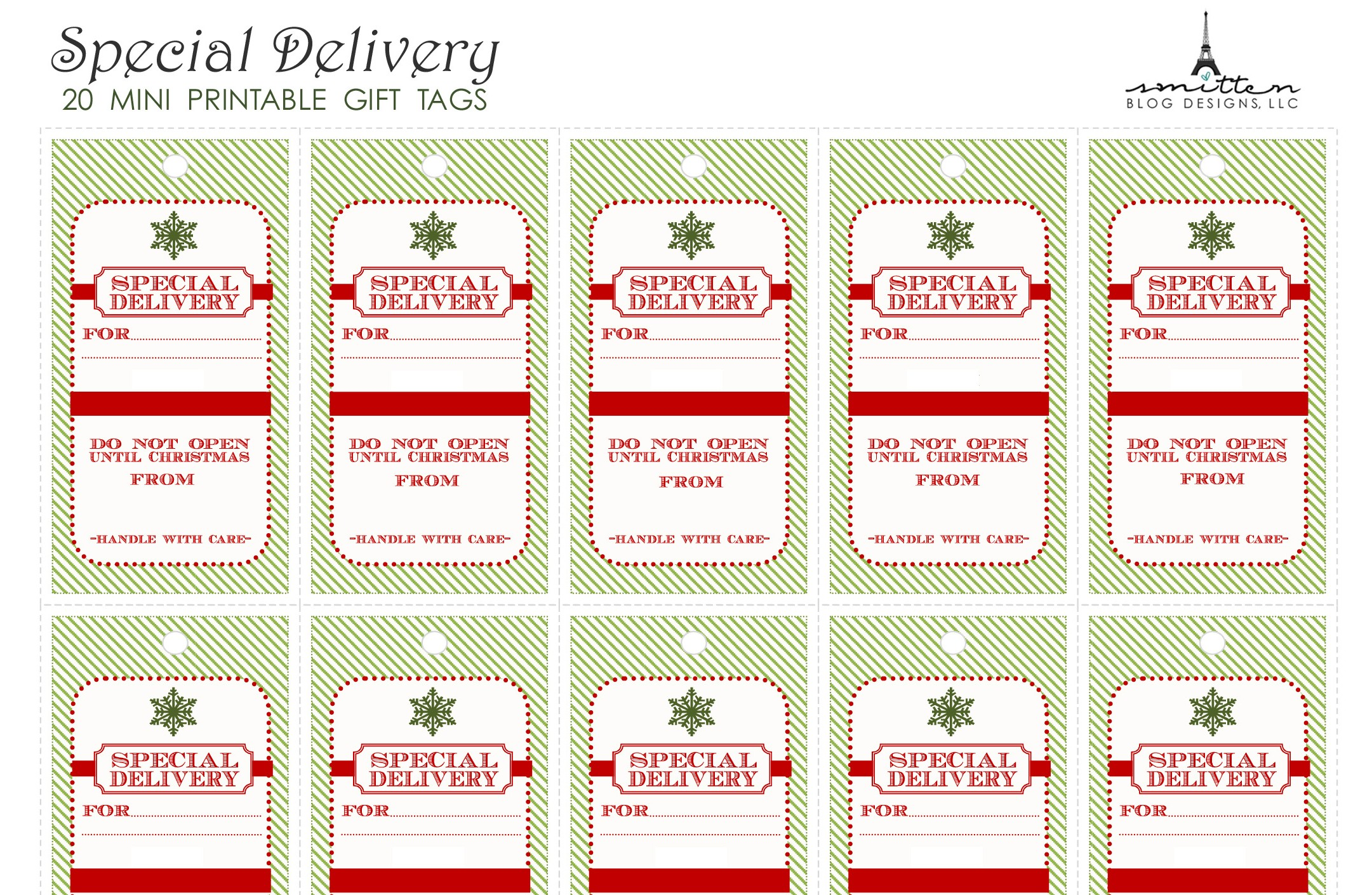 santa gift tags printable christmas printables