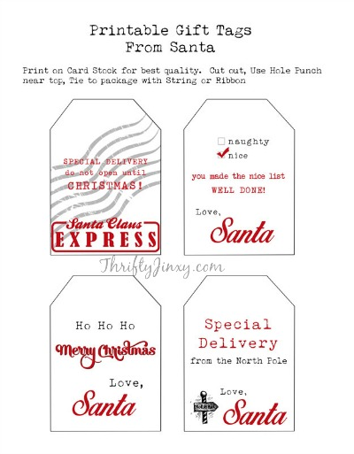 santa labels free printable