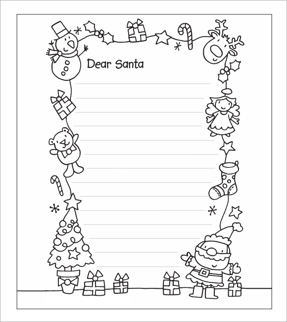 picture regarding Santa Letter Template Free Printable identified as Santa Letter Template Printable - Xmas Printables