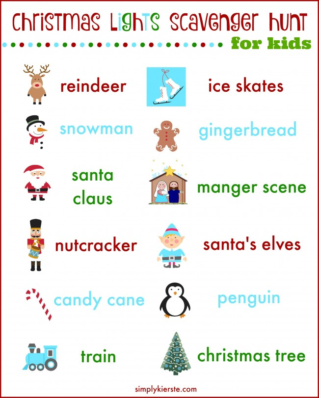 photograph relating to Christmas Scavenger Hunt Printable Clues named Scavenger Hunt Printables For Xmas - Xmas Printables