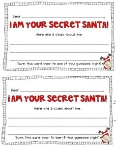 picture about Secret Santa Questionnaire Printable identify Solution Santa Printable - Xmas Printables