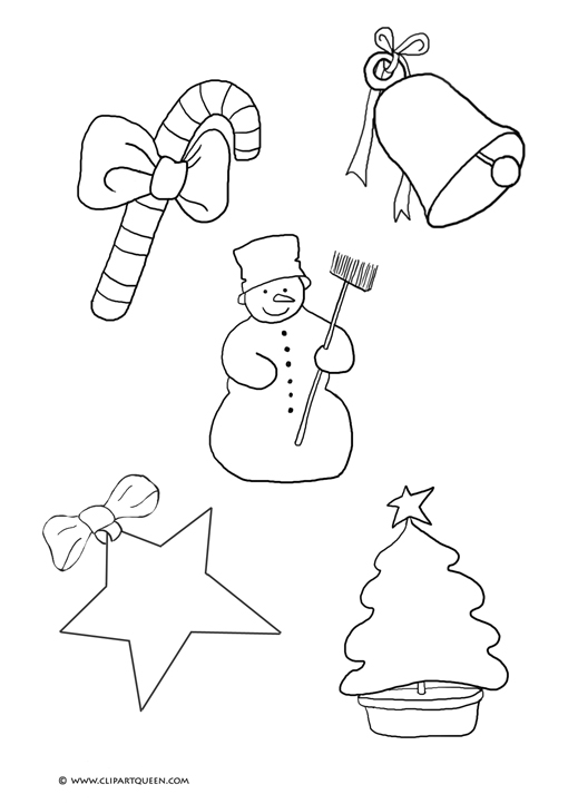 small christmas images to print