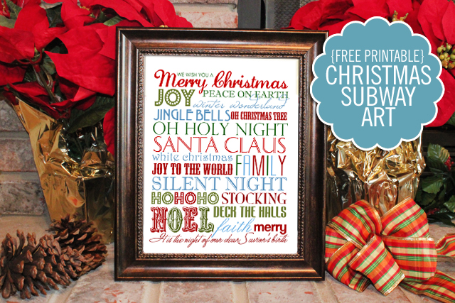 subway art printables for christmas