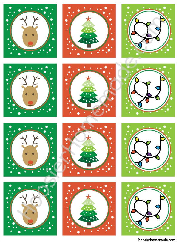 treat bag printables for christmas