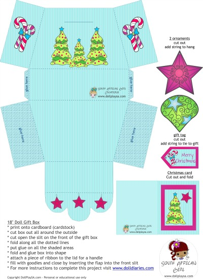 ag doll printables for christmas