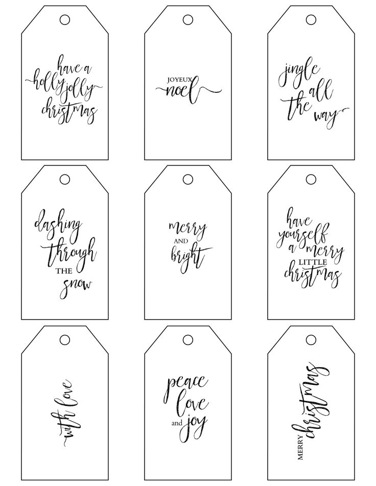 black and white printables for christmas