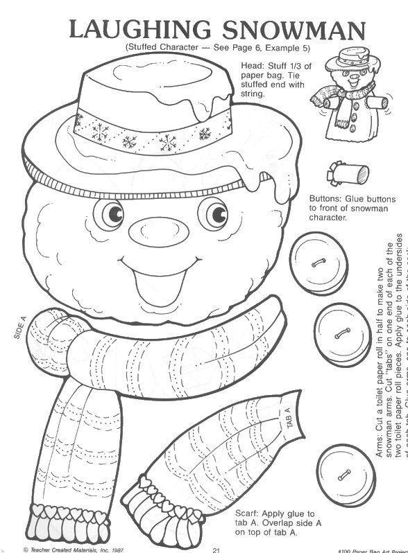 childrens christmas crafts printable