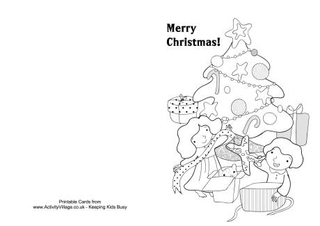 childrens printable christmas cards