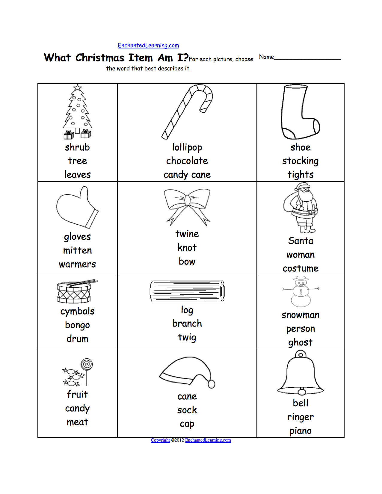 christmas activities printable worksheets