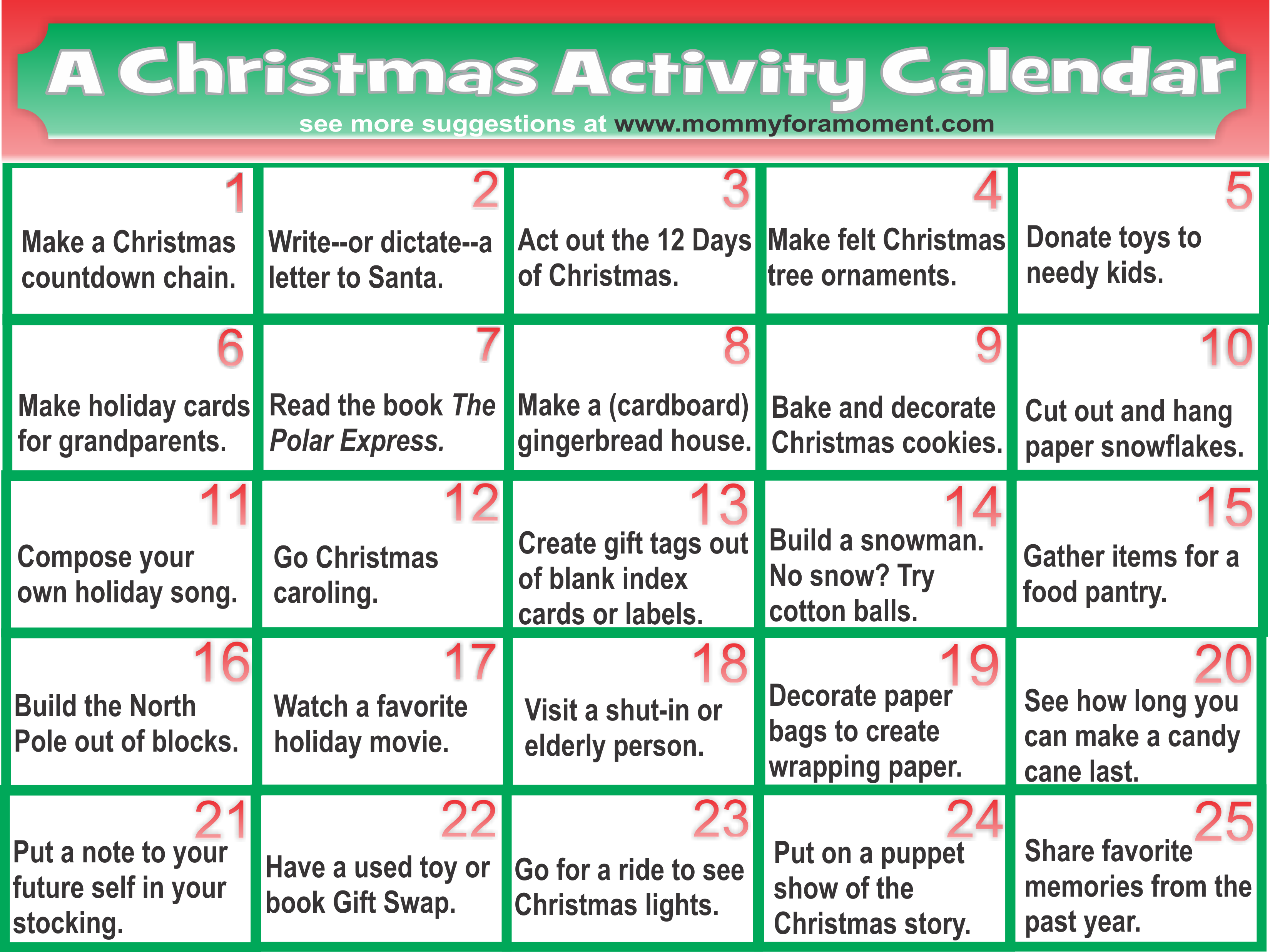 christmas activities to print