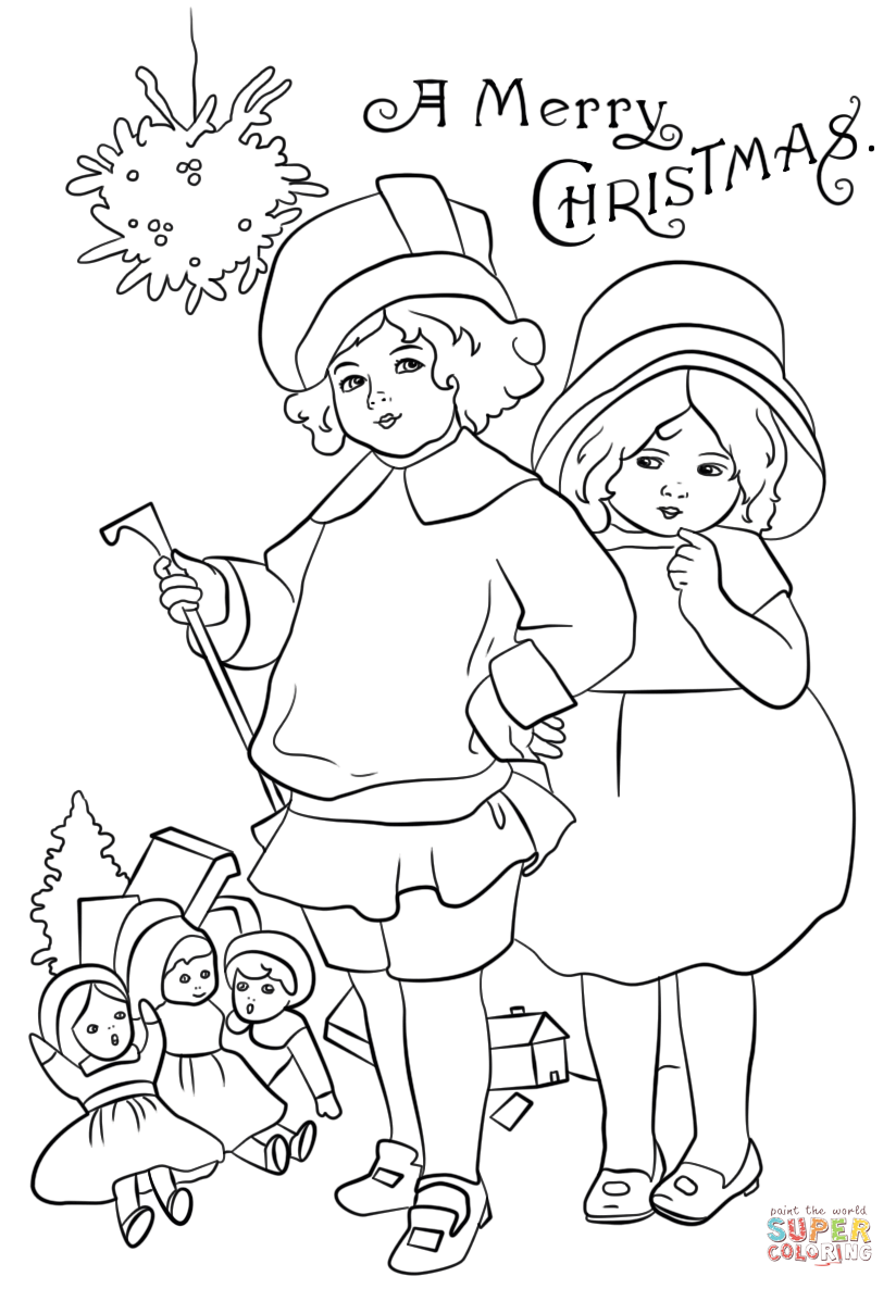 christmas card printable coloring pages