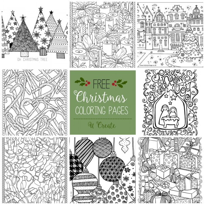 christmas color printables for christmas