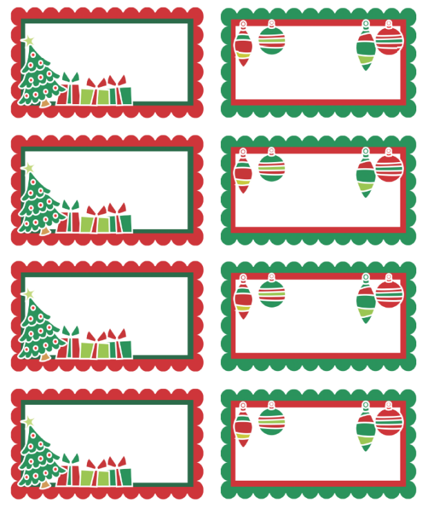 Christmas Labels Free Printable Templates Christmas Printables