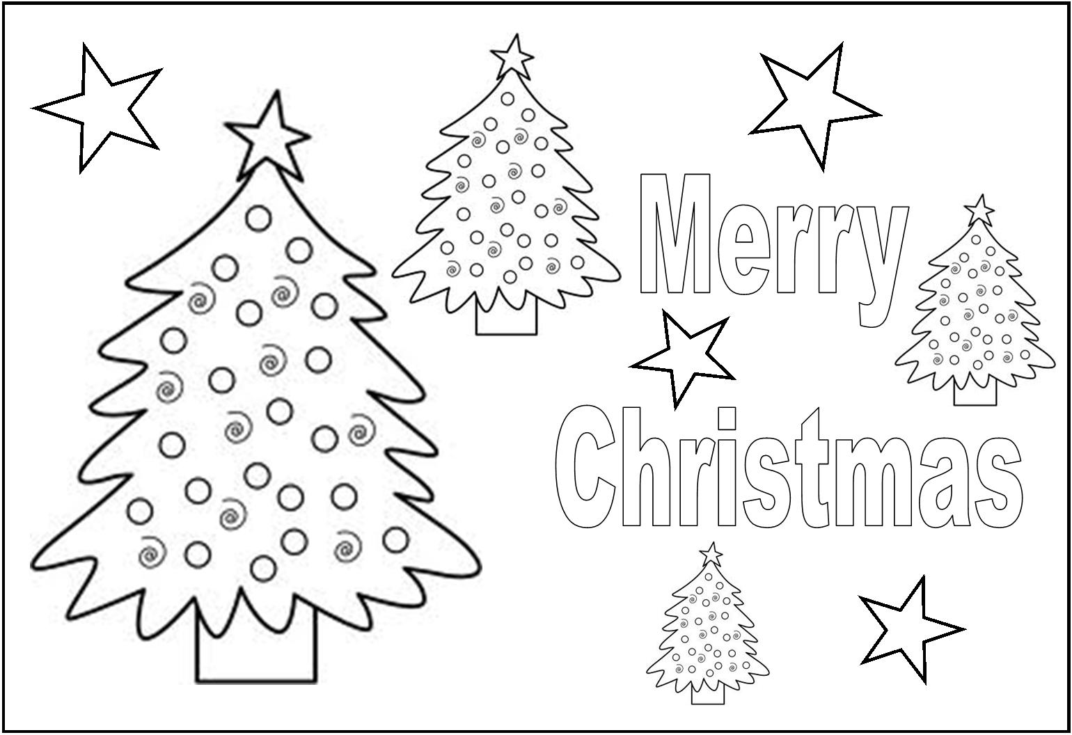christmas pages to print and color