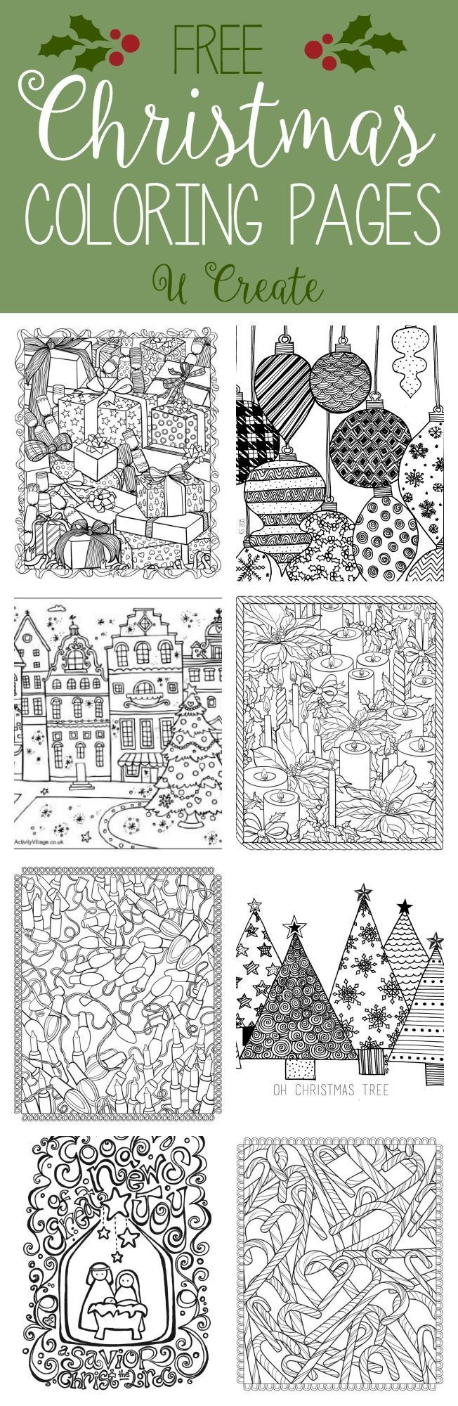 christmas print out coloring pages