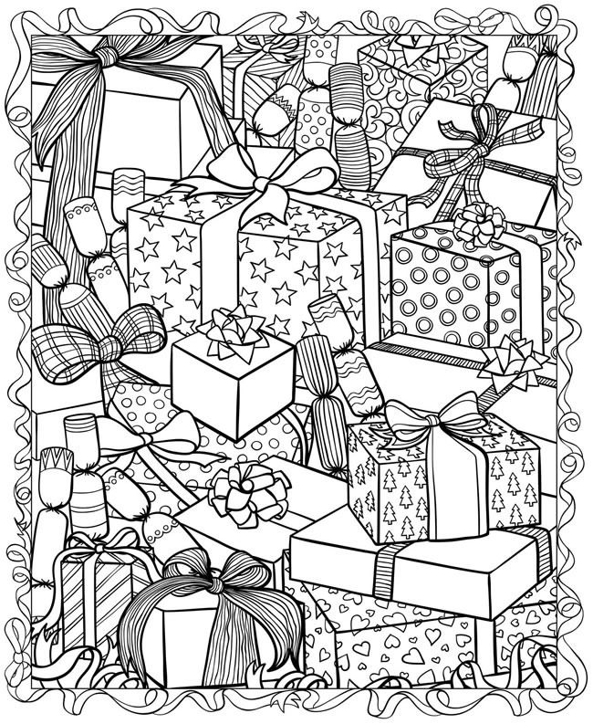 christmas printable colouring pages free