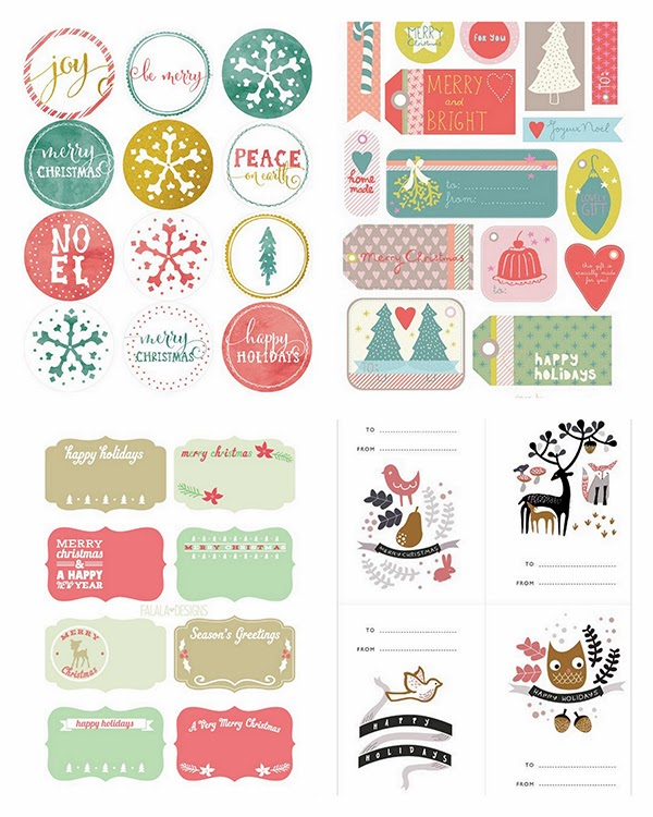 christmas printable labels free