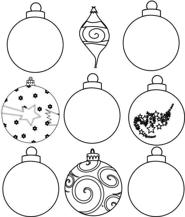 graphic about Printable Ornaments called Xmas Printable Ornaments Free of charge - Xmas Printables