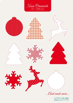 christmas printable ornaments free