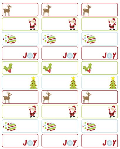 christmas to and from printable labels