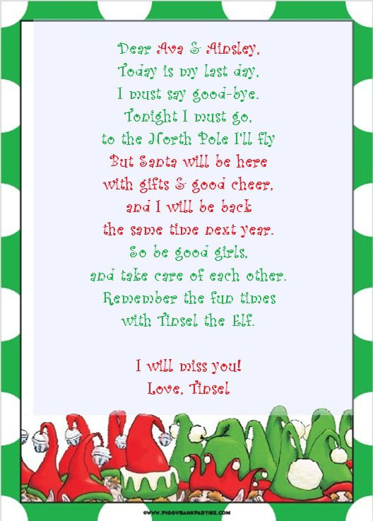 elf letter template printable
