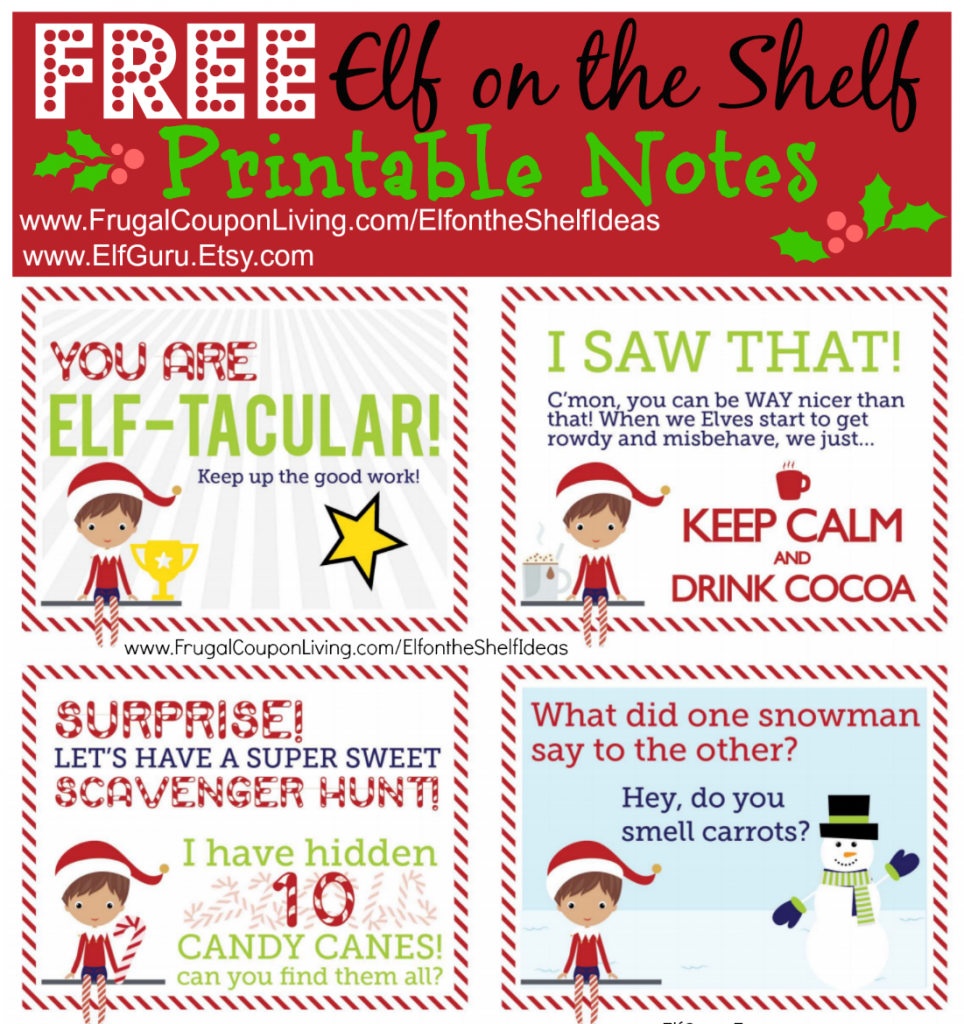 elf on the shelf book printable