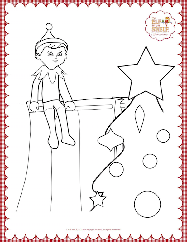 picture relating to Elf on the Shelf Printable Coloring Pages identify Elf Upon The Shelf Coloring Web pages Printable - Xmas Printables