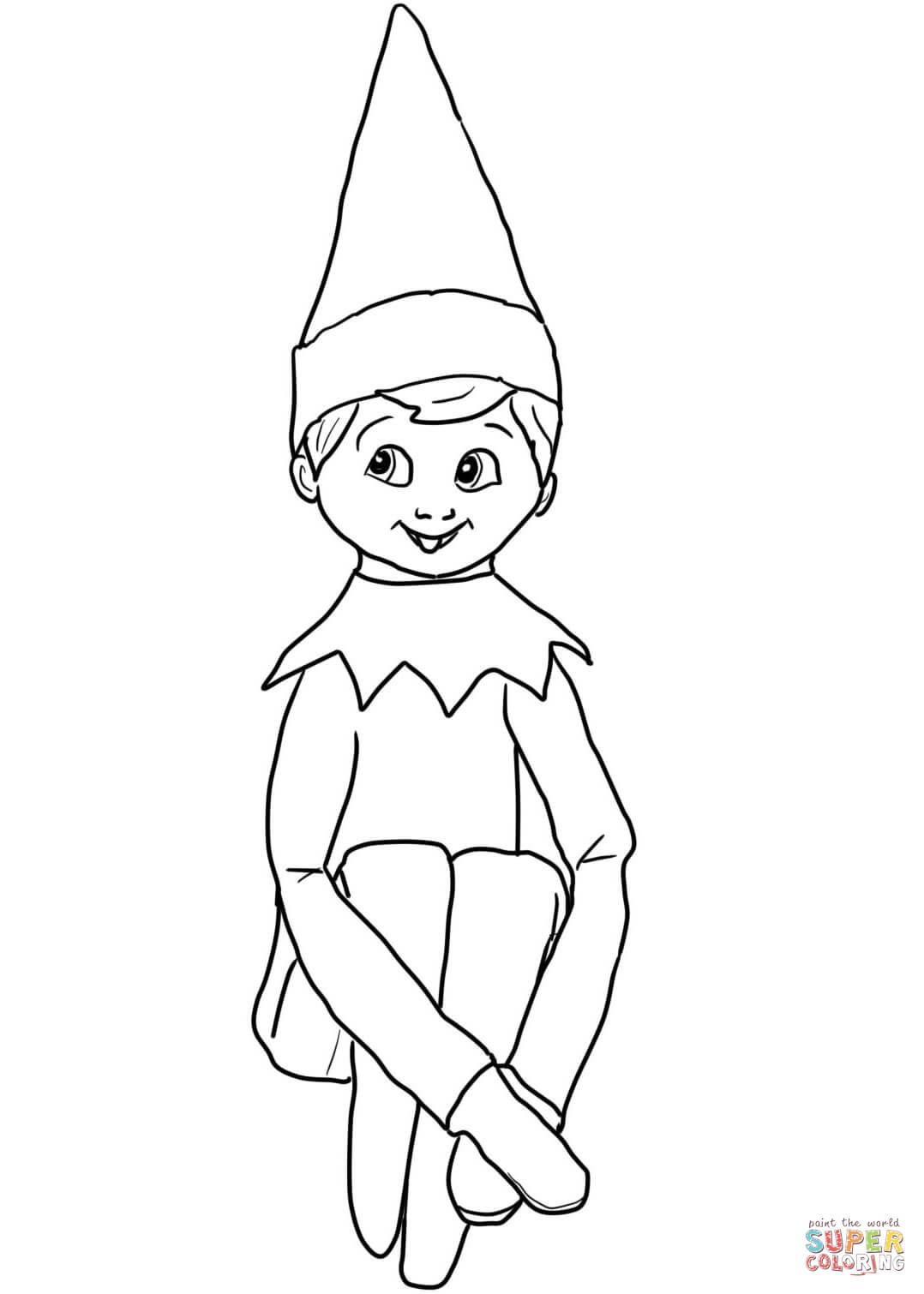 elf on the shelf coloring pages printable
