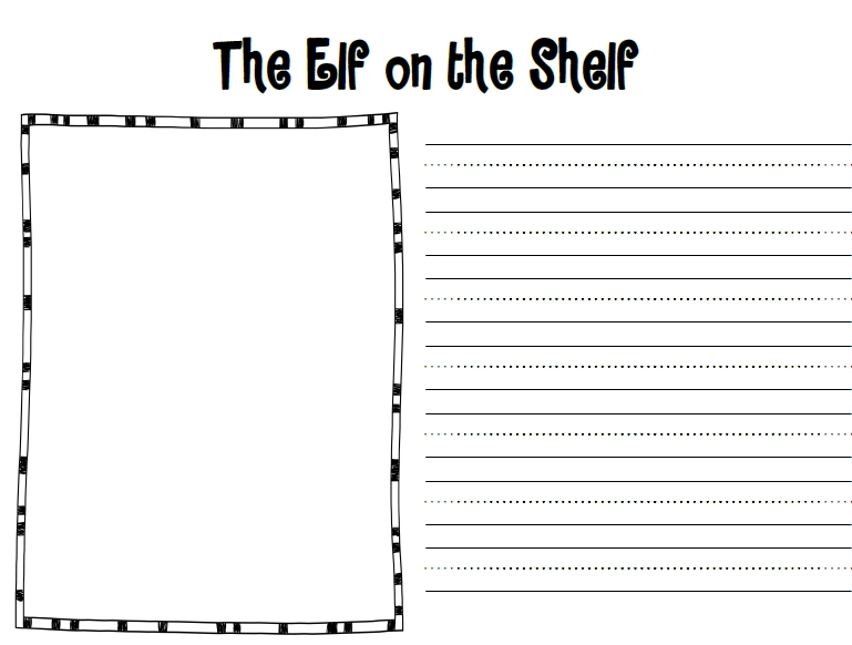 elf on the shelf journal printable