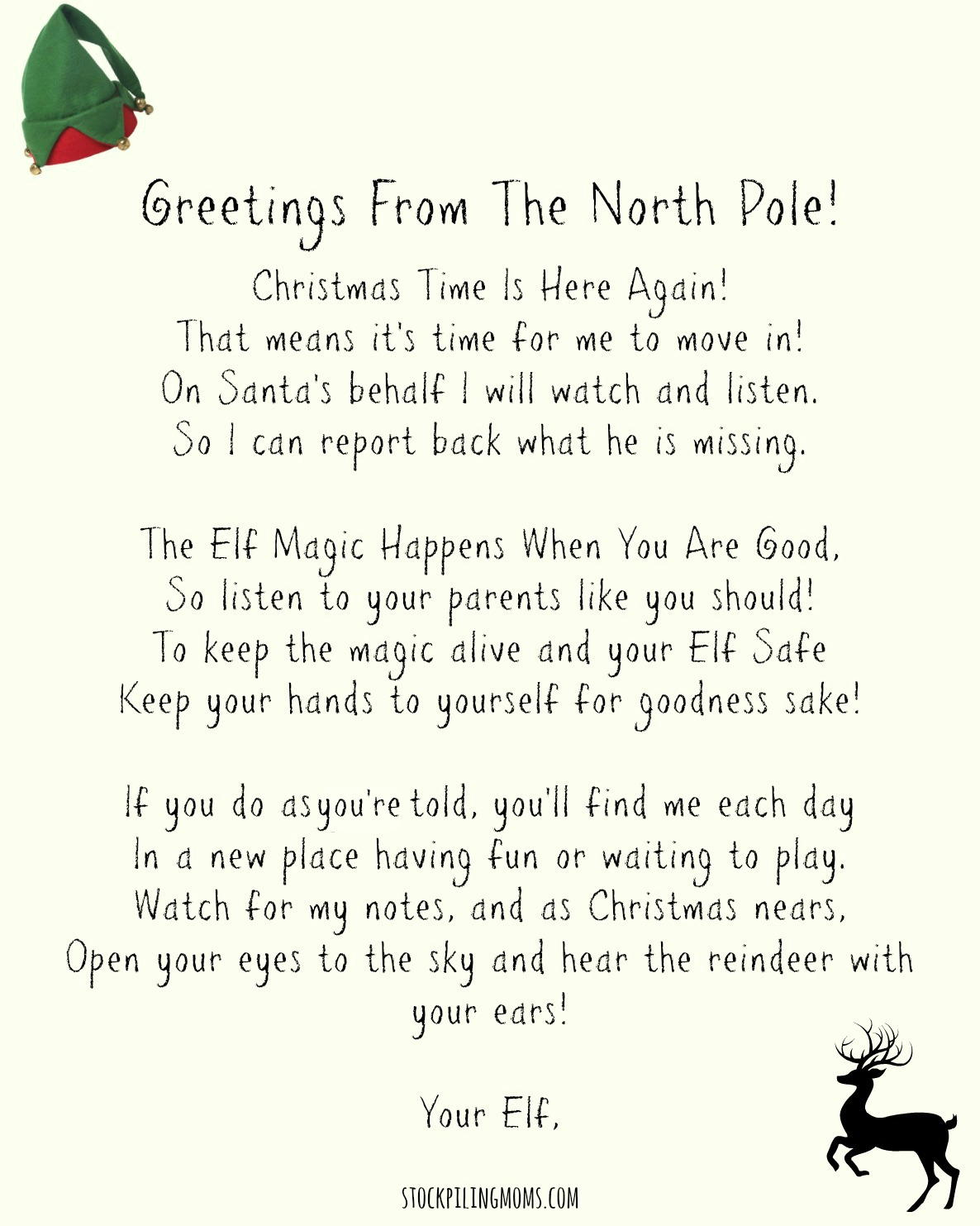 elf on the shelf welcome back letter free printable