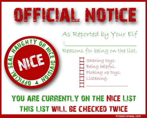 elf report printable