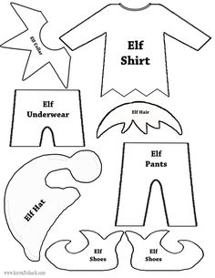 elf template to print