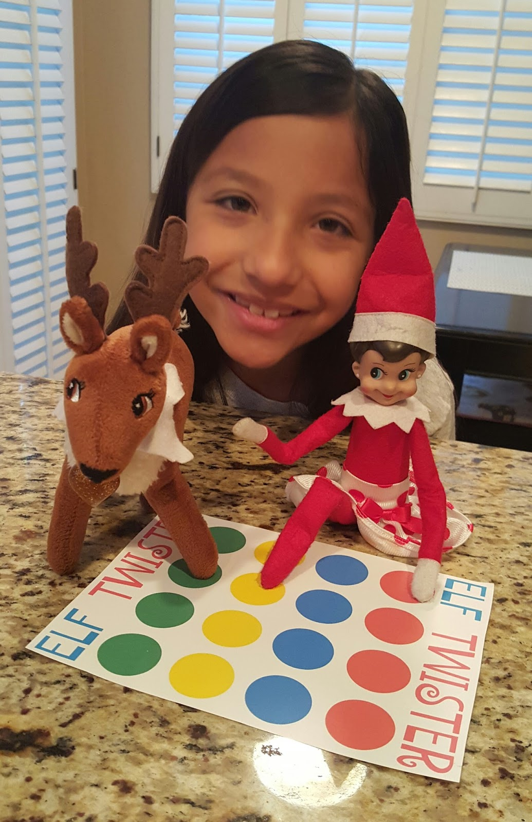 elf twister printable